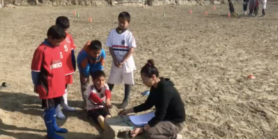 FCレアーレネパール、アスレティックトレーナーによる子どもたちの体力テストを実施!