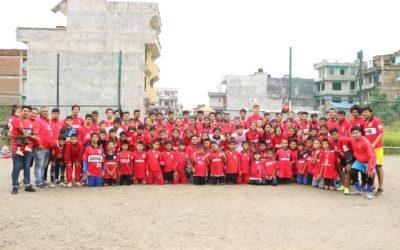 ネパールのレアーレキッズ大集合!おかげさまで、FC REALEネパールはこんなに大きくなりました。