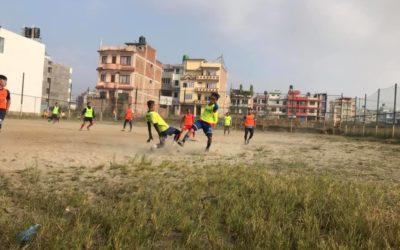 思いっきり走った、蹴った!ダサイン親善試合 Enjoy running and kicking at Dashain friendly match