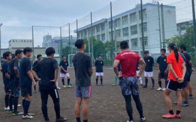 沼津中央高校サッカー部と国際交流トレーニング
