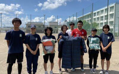 沼津中央高校サッカー部の皆さまからユニフォームなどをご寄付いただきました!