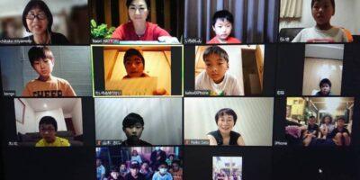 日本とネパールのレアーレキッズが、オンラインで交流会